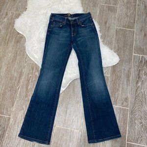 7 For All Mankind Boot Cut Jeans Blue Low 25x28
